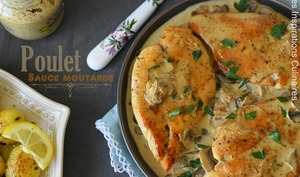 Escalopes sauce moutarde champignons