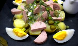 Salade de cervelas et pommes de terre