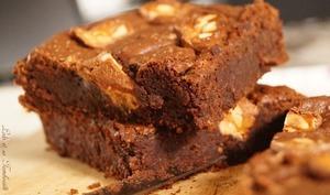 Brownies aux Snickers très fondant