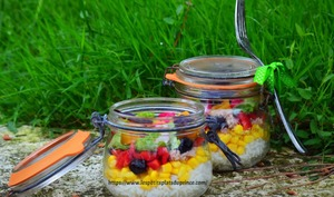 Salade jar, la salade en bocal : salade de riz