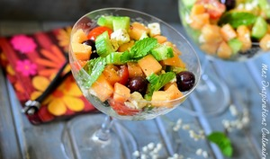 Salade de melon et feta