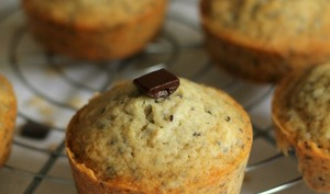 Muffins au muesli au chocolat