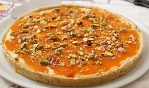 Tarte aux abricots et chocolat blanc