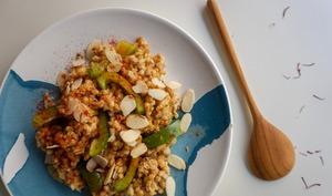 Salade fraîche d'épeautre au safran