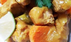 Colombo de filet mignon de porc aux patates douces