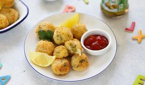 Croquettes de poisson aux olives dénoyautées