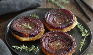 Mini tatins d'oignons rouges à l'érable et au thym