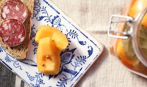 Pickles de coings à l'anglaise