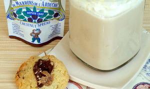 Café latte à la crème de marrons