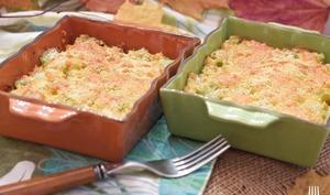 Gratin chayottes quinoa aux 2 fromages