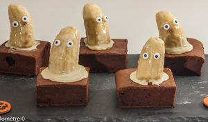 Brownies aux bananes fantômes