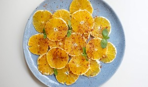 Carpaccio d'oranges à la cannelle