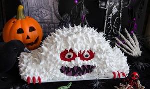 Gâteau monstre Yeti d'Halloween
