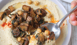 Houmous aux champignons et seitan
