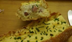 Quiche en baguette de pain au Brocciu de Corse