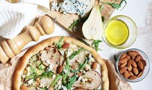 Pizza poire et bleu d'Auvergne