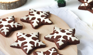 Biscuits de Noël, cacao gingembre