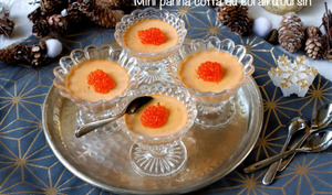 Mini panna cotta au corail d'oursin