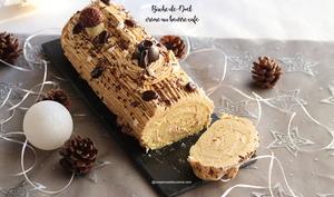 Bûche de Noël crème au beurre café