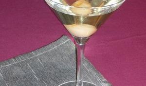 Cocktail de champagne au litchi