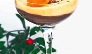Verrines de mousse chocolat orange