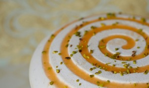 Entremets abricot pistache tonka