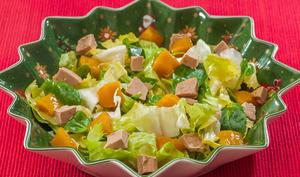 Salade de foie gras à la mangue