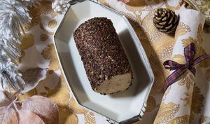 Nougatine de foie gras au grué de cacao et à la vanille d'Ouganda