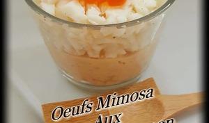 Oeufs mimosa aux oeufs de saumon