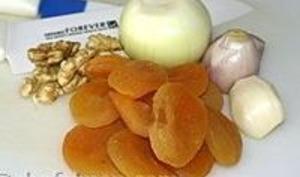 Chutney aux noix et abricots secs