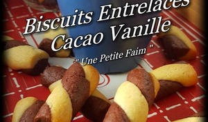 Biscuits entrelacés cacao vanille