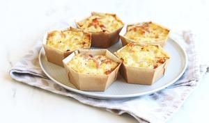 Petits gâteaux de chou fleur et jambon