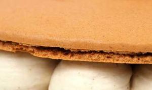Macaron géant marron myrtille