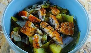 Soupe de poireaux-pommes de terre au haddock