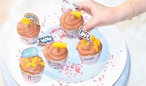 Pop cupcakes mangue chocollat