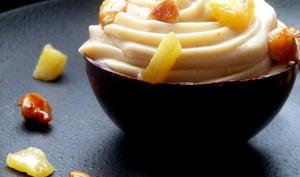 Sphères gourmandes ananas et crémeux de praliné à la cacahuète