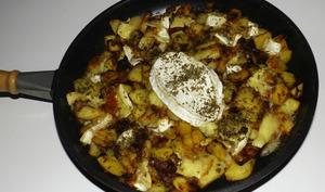 Gratin de pommes de terre, lardons et brie