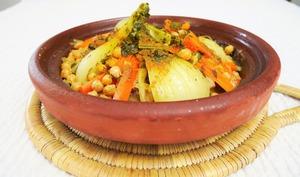Tajine de veau aux fenouils et aux carottes