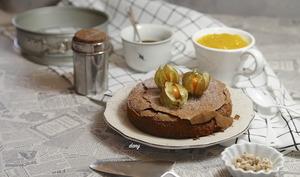 Fondant chocolat au piment d'Espelette et compote de mangue à la cardamome
