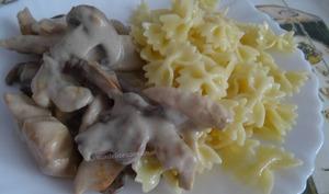 Aiguillettes de poulet à la crème au morbier