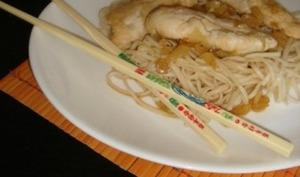 Aiguillettes de poulet sauce soja