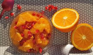 Salade d'oranges et grenade
