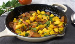 Poêlée d'ananas et mangue