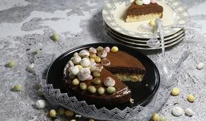 Génoise amandes à la mousse au chocolat