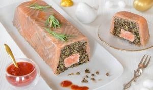 Terrine de saumon aux lentilles vertes