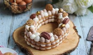 Le number cake aux chocolats de Pâques