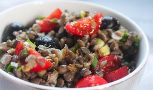 Salade de lentilles fraîche et originale