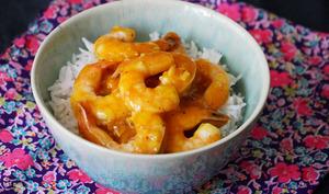 Crevettes sauce orange miel