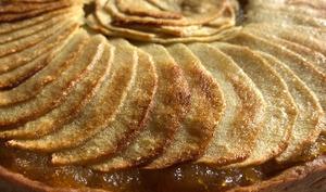 Tarte aux pommes compote et pâte sablée
