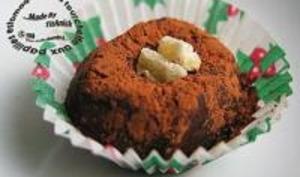 Carrés très mous au chocolat et gingembre confit